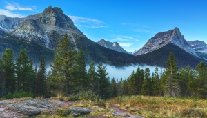The majestic mountains of Glacier National Park