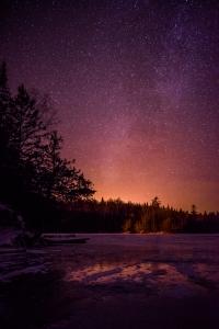 Frozen lake in the Canadian Shield