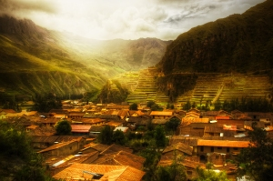 The sleepy town of Ollantaytambo