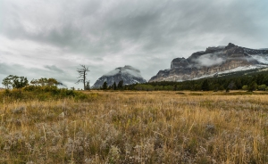 Cloudy days in the mountains of Glacier National Park