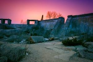 Abandoned hydro electric dam